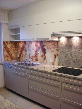 Küchen Modell Loft Lack Matt In Den Farben Fango Und Smoke, Zangengriffe In  Edelstahl,